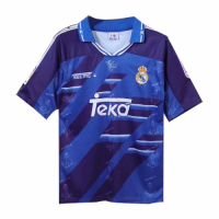 94/96 Real Madrid Away Blue Retro Jerseys Shirt