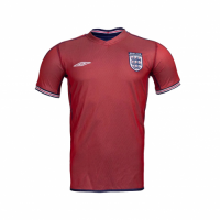 2002 England Away Red Retro Jerseys Shirt
