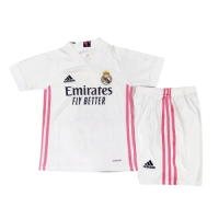20/21 Real Madrid Home White Children's Jerseys Kit(Shirt+Short)