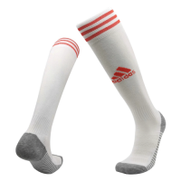 20/21 Ajax Home White Soccer Jerseys Socks
