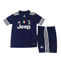 Juventus Kids Soccer Jersey Away Kit (Shirt+Short) 2020/21