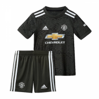20/21 Manchester United Away Black Kid's Jerseys Kit(Shirt+Short)