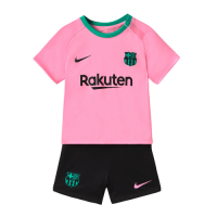 20/21 Barcelona Third Away Pink Children's Jerseys Kit(Shirt+Short)