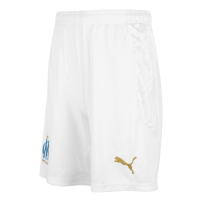 20/21 Marseilles Home White Soccer Jerseys Short