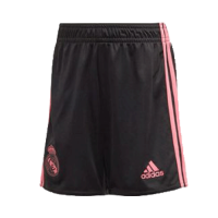 20/21 Real Madrid Third Away Black Soccer Jerseys Short