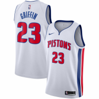 Men's Detroit Pistons Blake Griffin No.23 Nike White Replica Swingman Jersey - Association Edition