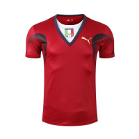 2006 World Cup Champion Italy Goalkeeper Red Retro Soccer Jerseys Shirt