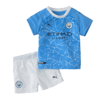 20/21 Manchester City Home Blue Children's Jerseys Kit(Shirt+Short)