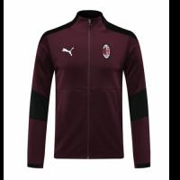 20/21 AC Milan Dark Red High Neck Collar Training Jacket
