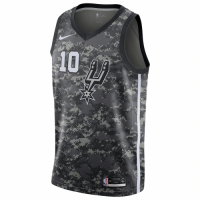 Men's San Antonio Spurs DeMar DeRozan No.10 Nike Black City Edition Swingman Jersey