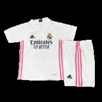 20/21 Real Madrid Home White Children's Jerseys Whole Kit(Shirt+Short+Socks)