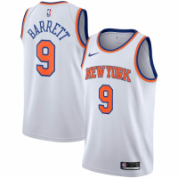 Men's New York Knicks RJ Barrett No.9 Nike White 20192020 Swingman Jersey - Association Edition