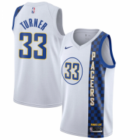 Men's Indiana Pacers Myles Turner No.33 Nike White 201920 Finished Swingman Jersey - City Edition