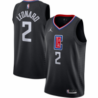 Men's LA Clippers Kawhi Leonard Jordan Brand Black 202021 Swingman Jersey - Statement Edition