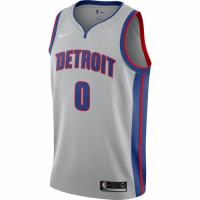 Men's Detroit Pistons Andre Drummond No.0 Nike Silver Swingman Jersey Statement Edition