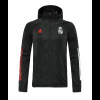 20/21 Real Madrid Black Windbreaker Hoodie Jacket