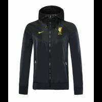 20/21 Liverpool Black Windbreaker Hoodie Jacket