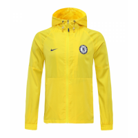 20/21 Chelsea Yellow Windbreaker Hoodie Jacket