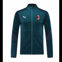 20/21 AC Milan Blue High Neck Collar Training Jacket