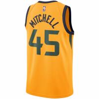 Men's Utah Jazz Donovan Mitchell No.45 Nike Gold Replica Swingman Jersey - Statement Edition