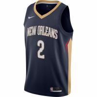 Men's New Orleans Pelicans Lonzo Ball No.2 Nike Navy 202021 Swingman Jersey - Icon Edition