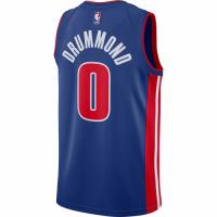 Men's Detroit Pistons Andre Drummond No.0 Nike Blue Swingman Jersey - Icon Edition