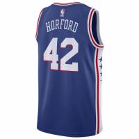 Men's Philadelphia 76ers Al Horford No.42 Nike Royal 201920 Swingman Jersey - Icon Edition