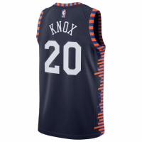 Men's New York Knicks Kevin Knox II No.20 Nike Navy 201920 Finished Swingman Jersey Jersey - City Ed