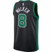 Men's Boston Celtics Kemba Walker No.8 Jordan Brand Black 202021 Swingman Jersey - Statement Edition