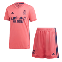 20/21 Real Madrid Away Pink Soccer Jerseys Kit(Shirt+Short)