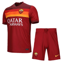 20/21 Roma Home Red Soccer Jerseys Kit(Shirt+Short)