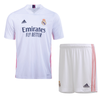 20/21 Real Madrid Home White Soccer Jerseys Kit(Shirt+Short)
