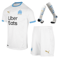 20/21 Marseille Home White Jerseys Whole Kit(Shirt+Short+Socks)