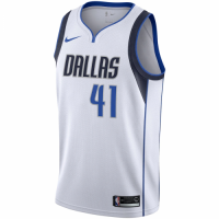 Men's Dallas Mavericks Dirk Nowitzki No.41 Nike White Replica Swingman Jersey - Association Edition