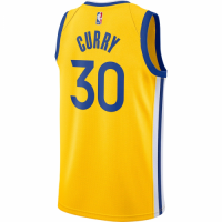 Men's Golden State Warriors Stephen Curry No.30 Nike Gold Finished Swingman Jersey - Statement Editi