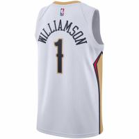 Men's New Orleans Pelicans Zion Williamson #1 Nike White 20/21 Swingman Jersey - Association Edition
