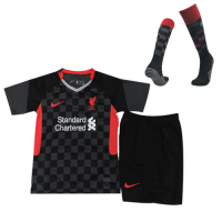 Liverpool Kids Soccer Jersey Third Away Whole Kit (Shirt+Short+Socks) 2020/21