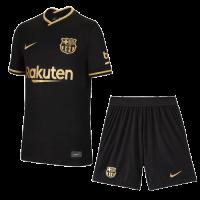 20/21 Barcelona Away Black Soccer Jerseys Kit(Shirt+Short)