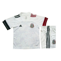 2020 Mexico Away White Children's Jerseys Kit(Shirt+Short)