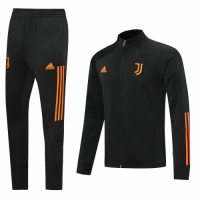 20/21 Juventus Black&Orange High Neck Training Kit(Jacket+Trouser)
