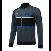 20/21 Inter Milan Gray Player Version High Neck Collar Training Jacket