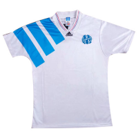 92/93 Marseille Home White Retro Jerseys Shirt
