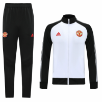 20/21 Manchester United Black&White High Neck Collar Training Kit(Jacket+Trouser)