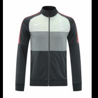 20/21 Liverpool Gray&Light Green High Neck Collar Training Jacket
