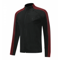 20/21 Manchester United Black&Red High Neck Collar Training Jacket