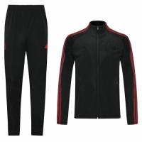 20/21 Manchester United Black&Red High Neck Collar Training Kit(Jacket+Trouser)