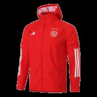 20/21 Ajax Red Windbreaker Hoodie Jacket