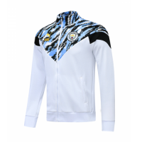 20/21 Manchester City White High Neck Collar Training Jacket