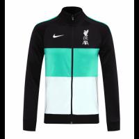 20/21 Liverpool Black&Green&White High Neck Collar Training Jacket