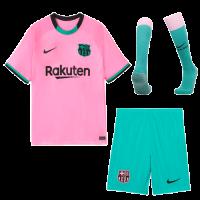 20/21 Barcelona Third Away Pink Soccer Jerseys Whole Kit(Shirt+Short+Socks)